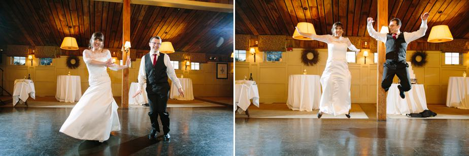 tap dance at barn at gibbet hill wedding